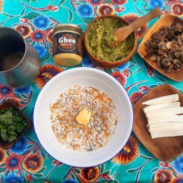 Arepas Colombianas hechas con Ghee Caldes d'Estrac
