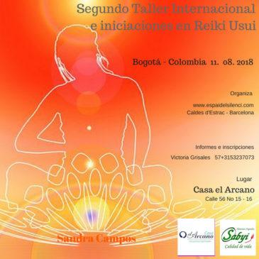 Taller Internacional e iniciaciones en Reiki – Bogotá – Medellín julio – agosto 2018